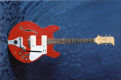 Vintage 1967 Standel Custom Model 202 Electric Guitar (Red)