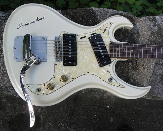 Vintage 1967 TOKIA Hummingbird Electric Guitar (White)