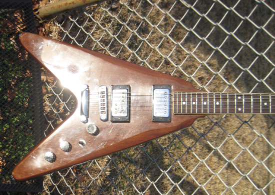 Vintage 1980's Harmony Flying V Electric Guitar