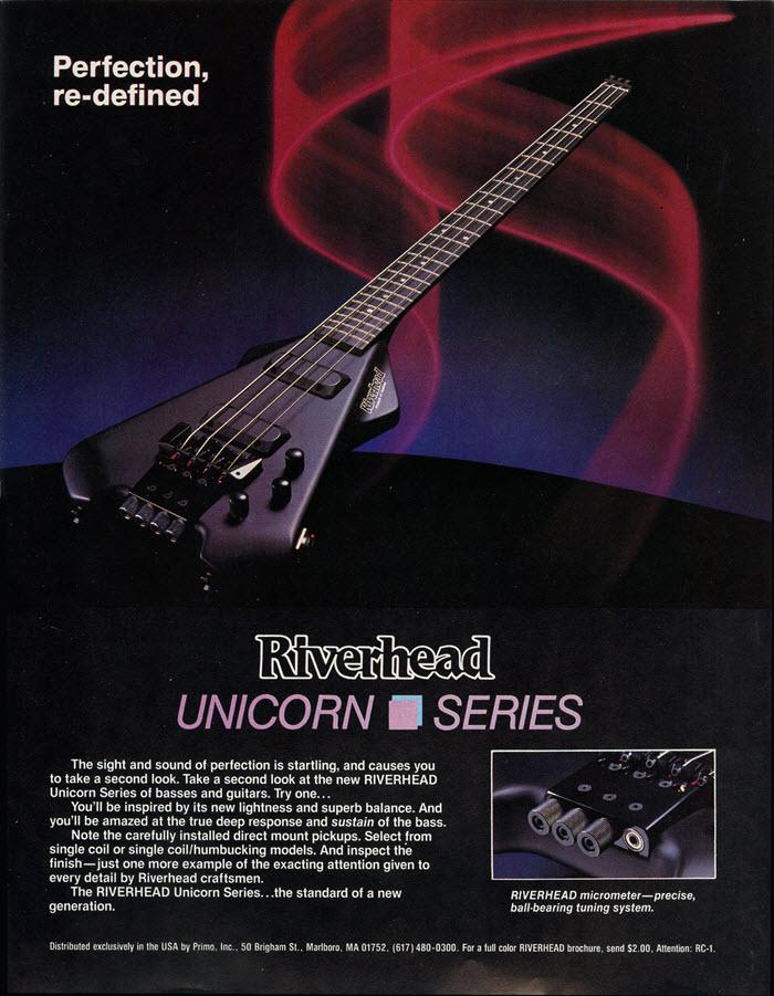 Riverhead Unicorn Series Guitar Ad