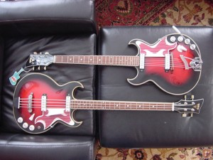 Vintage EKO Barracuda Electric Guitar & Bass (Set)