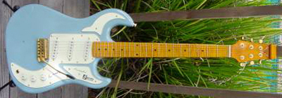 2000's Burns Marquee Electric Guitar (blue)