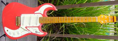 2000's Burns Marquee Electric Guitar (red)