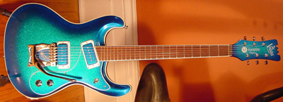 2002 Mosrite Electric Guitar (blueburst, Japanese re-issue)