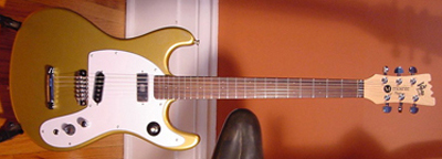 2002 Mosrite Johnny Ramone Electric Guitar (gold, Japanese re-issue)