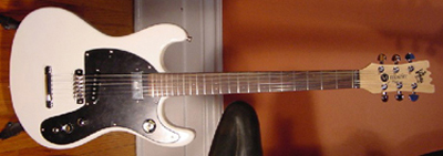 2002 Mosrite Johnny Ramone Electric Guitar (white, Japanese re-issue)