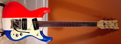 2002 Mosrite Electric Guitar (red white & blue, Japanese re-issue)