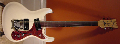 2002 Mosrite Electric Guitar (white, Japanese re-issue)