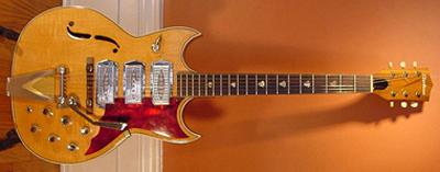 Vintage 1960's Airline Barney Kessel Electric Guitar