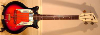 Vintage 1960's Airline Electric Bass Guitar