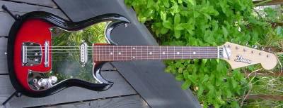 Vintage 1960's Domino Baron Electric Guitar