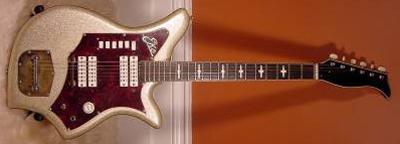 Vintage 1960's EKO 700-4V Electric Guitar