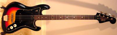 Vintage 1960's EKO Cobra Electric Bass Guitar