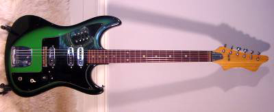 Vintage 1960's Kawai Electric Guitar (Greenburst)