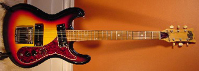 Vintage 1960's Raven Mosrite Electric Guitar
