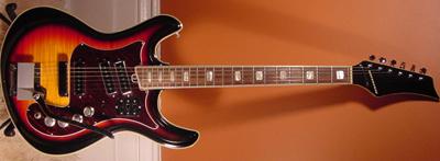 Vintage 1960's Silvertone Mosrite Electric Guitar