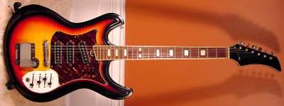 Vintage 1960's Silvertone Mosrite Slider Electric Guitar