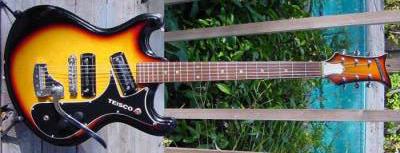Vintage 1960's Teisco V2 Electric Guitar