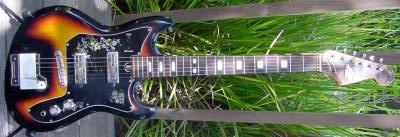 Vintage 1960's Teisco Spectrum 2 Electric Guitar