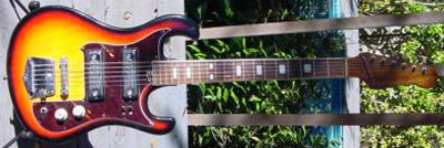 Vintage 1960's Teisco Spectrum Electric Guitar