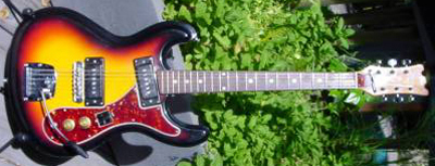 Vintage 1960's Univox Custom Hi-Flyer Electric Guitar