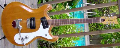 Vintage 1970's Gene Moles Custom Mosrite Electric Guitar