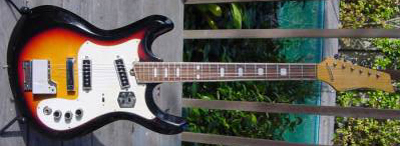 Vintage 1970's Kawai Mosrite Electric Guitar