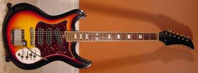 Vintage 1970's Silvertone Slider Electric Guitar