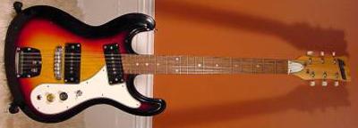 Vintage 1970's Univox Hi-Flyer Electric Guitar