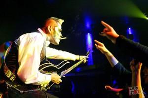 Voodoo Zombie's Lu Cifer with his Joey Leone Superfast Guitar
