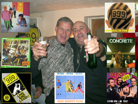 Wally with Nick Cash, lead singer of legendary punk rockers 999