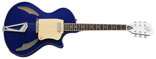 Wandre Tri-Lam Electric Guitar from Eastwood Guitars (Blue)