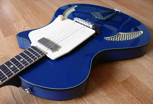 Wandre Tri-Lam Electric Guitar (Blue)