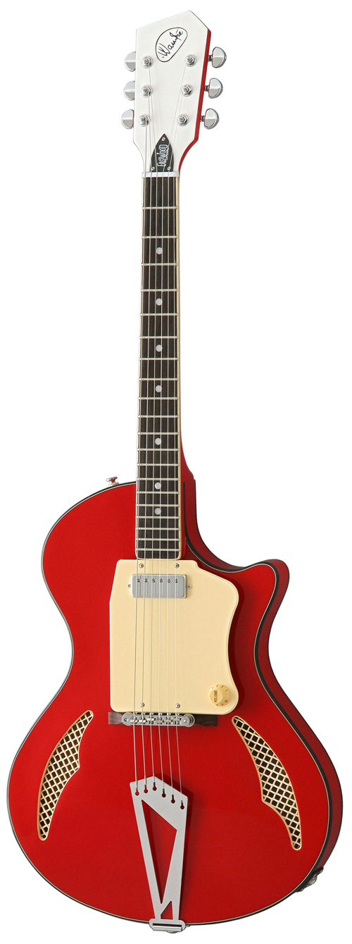 Wandre Tri-Lam Electric Guitar from Eastwood Guitars (Red)